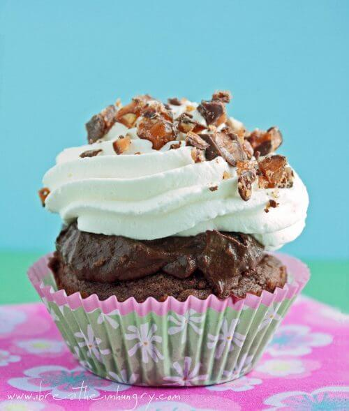low carb death by chocolate cupcake