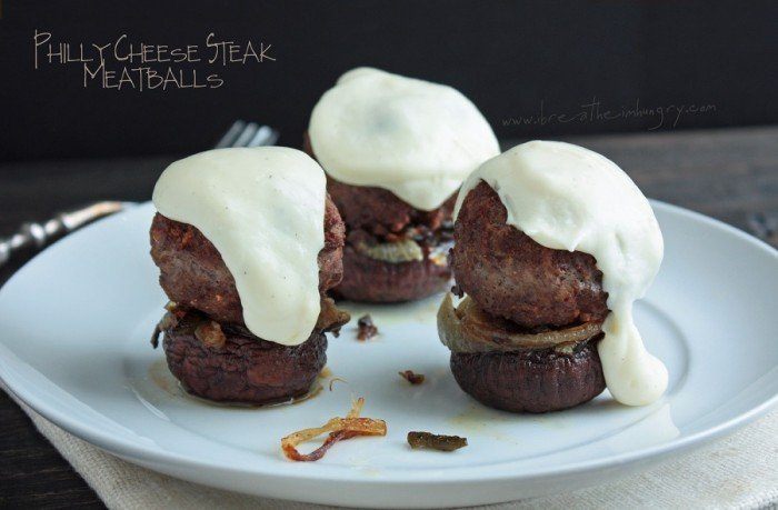 Philly cheese steak meatballs low carb and gluten free