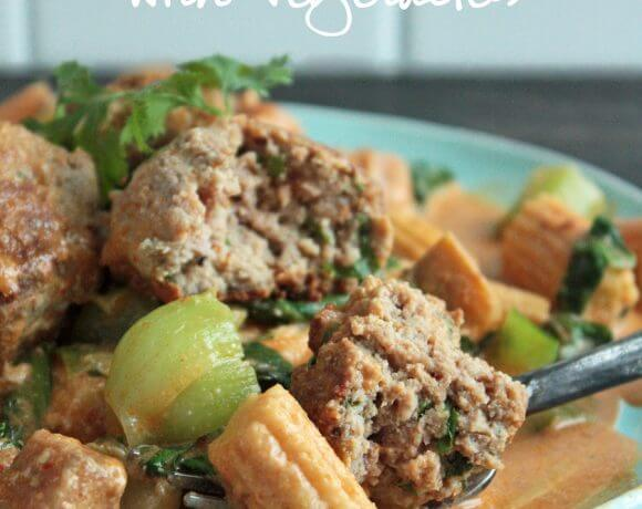 Thai Red Curry Meatballs – Low Carb and Gluten Free