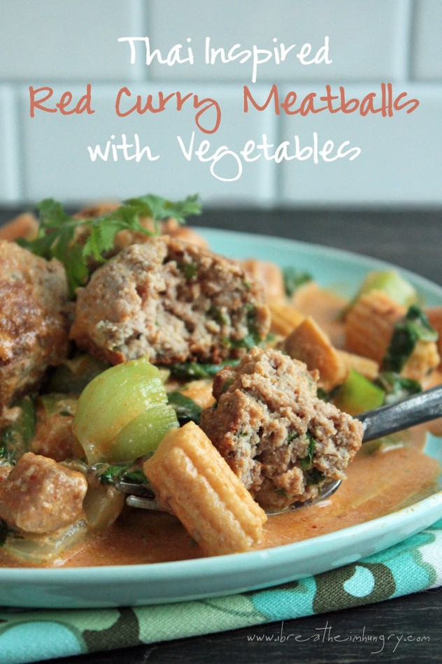 thai red curried meatballs low carb and gluten free