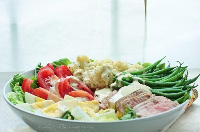 grilled tuna salad nicoise low carb