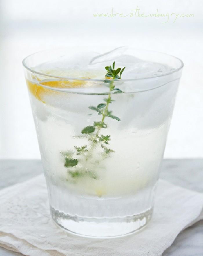 sugar free vodka thyme lemonade