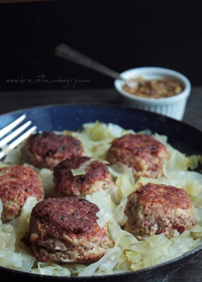 corned beef meatballs with cabbage low carb and gluten free