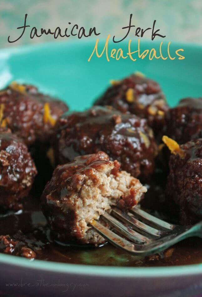 low carb jamaican jerk meatballs