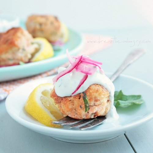 low carb salmon meatballs