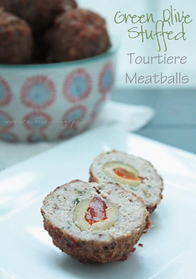green olive stuffed meatballs low carb and gluten free