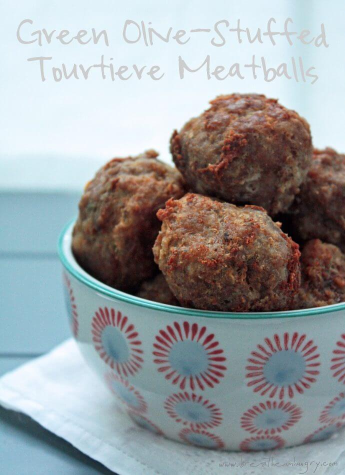 Tourtiere Meatballs low carb and gluten free