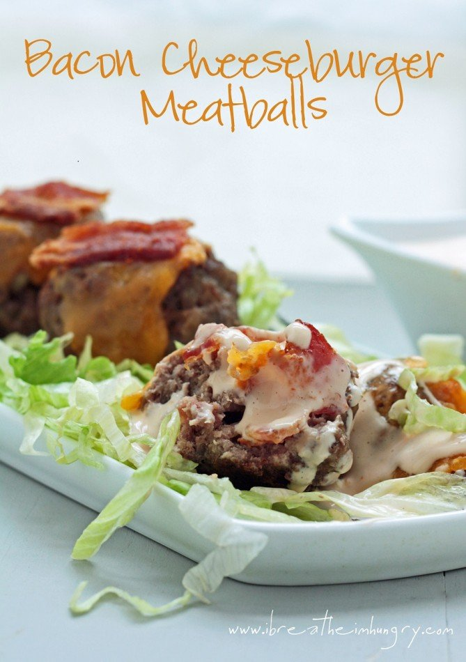 low carb meatball recipe from IBIH