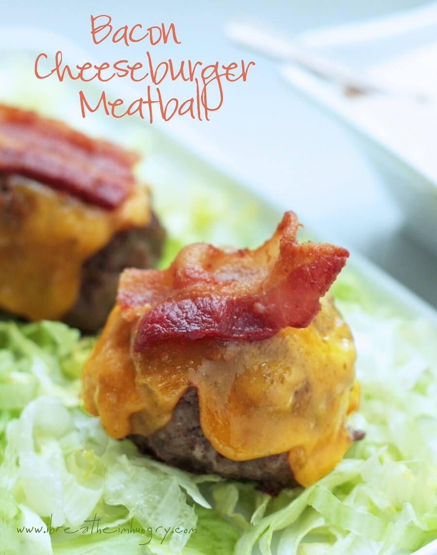 Keto Bacon Cheeseburger Meatballs - Gluten Free   I Breathe I'm Hungry