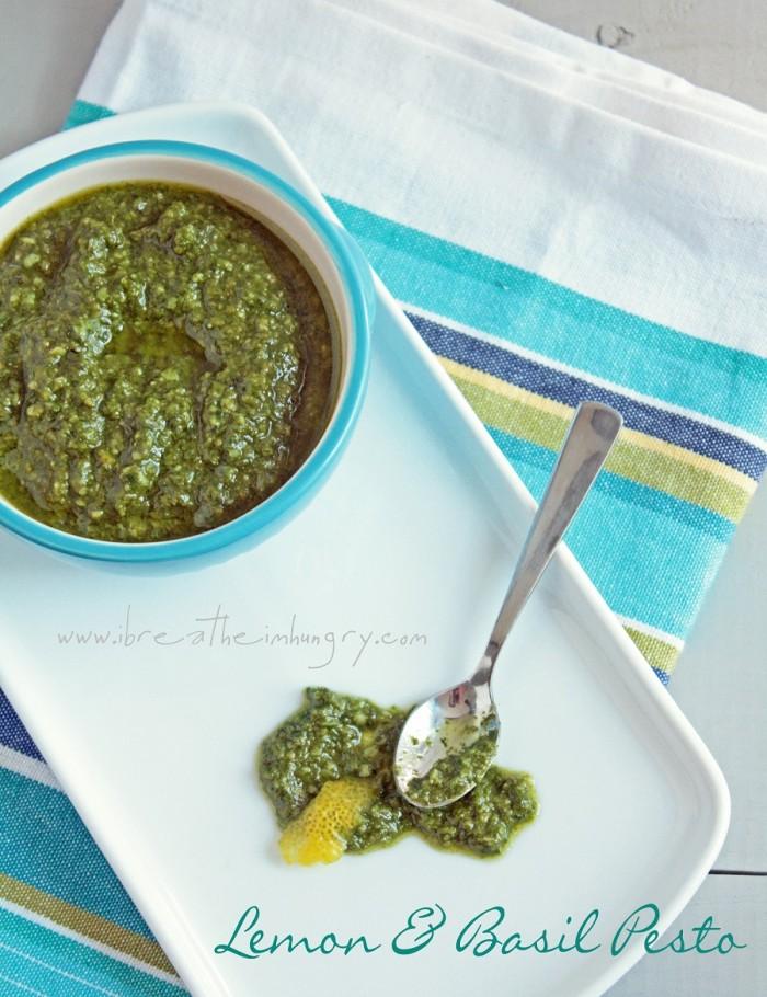 low carb recipe for lemon and basil pesto