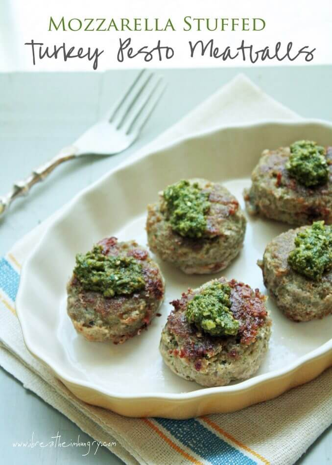 low carb meatball recipe with pesto