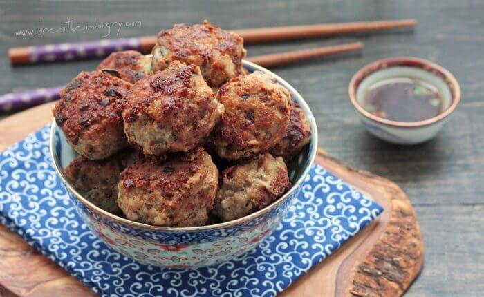 pork shumai meatballs low carb and gluten free recipe