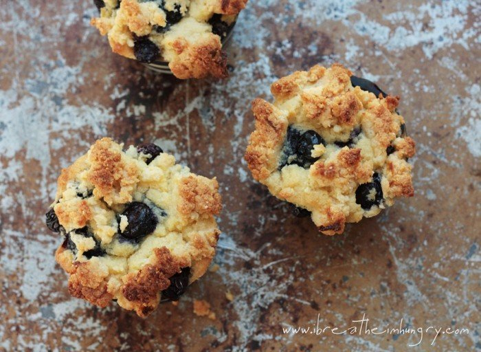 paleo blueberry muffin recipe with lemon frosting
