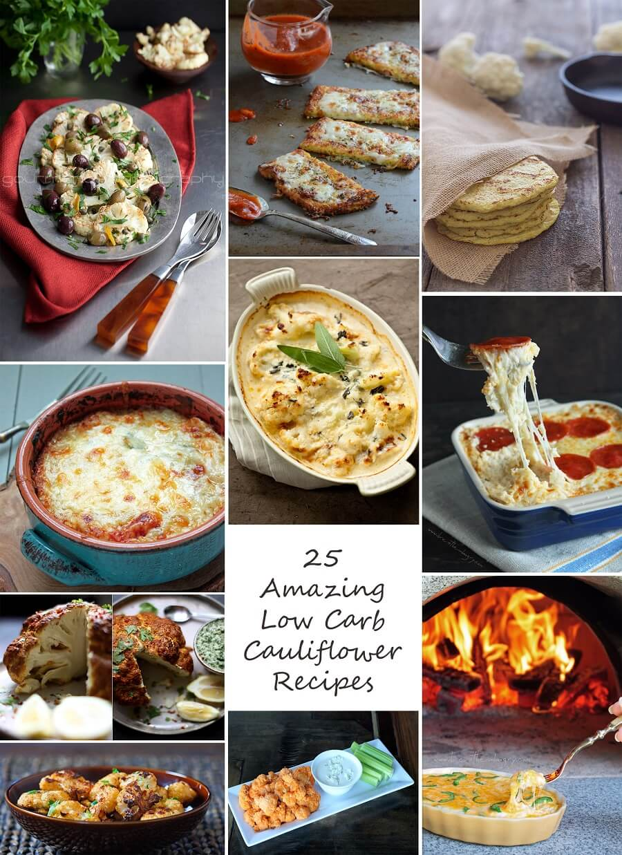 25 best low carb cauliflower recipes