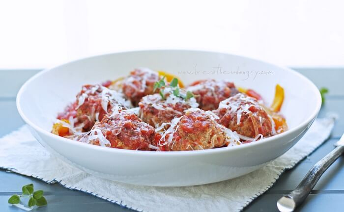 low carb italian sausage meatball recipe from ibreatheimhungry.comm
