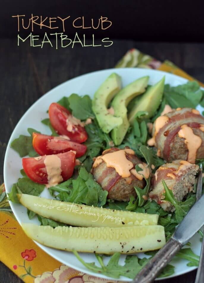 turkey club meatballs by ibreatheimhungry.com