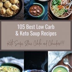 105 best low carb soups keto with text overlay