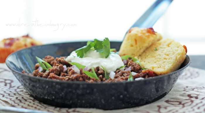 low carb crockpot chili recipe from ibreatheimhungry.com