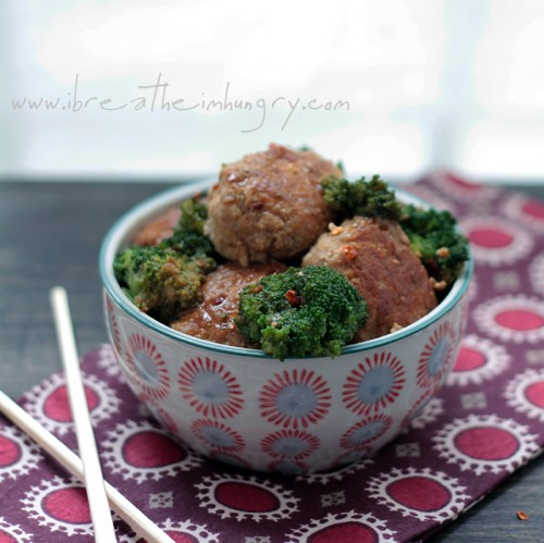 Low carb asian meatball recipe from ibreatheimhungry.com