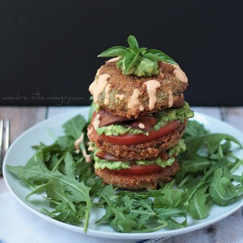 low carb and gluten free fried green tomato recipe from mellissa sevigny