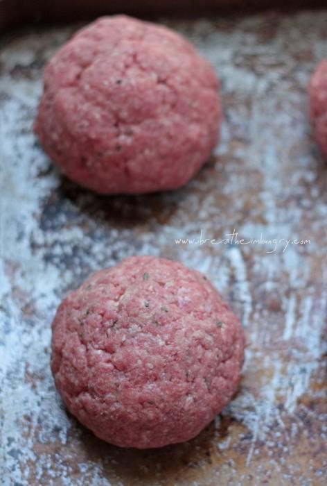 giant meatballs raw