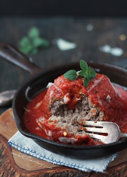 giant italian meatball recipe low carb and gluten free by mellissa sevigny