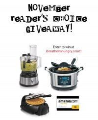 Foodless Friday's November Reader's Choice Giveaway