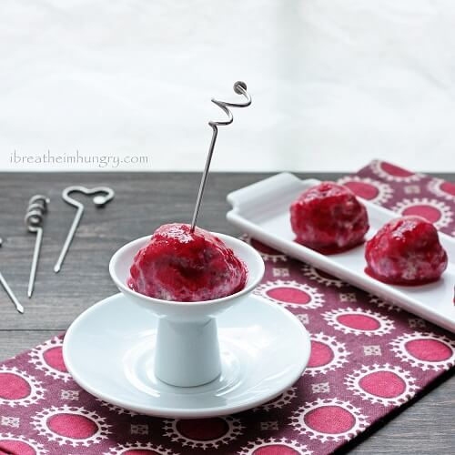 low carb recipe for turkey meatballs with sugar free cranberry glaze