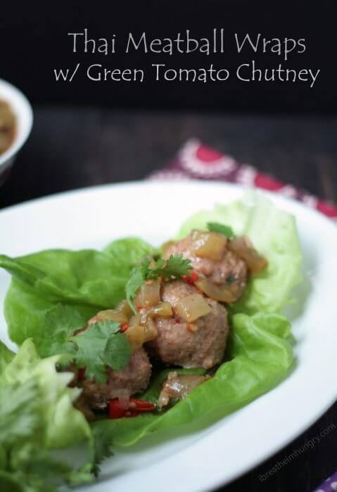 low carb thai meatballs