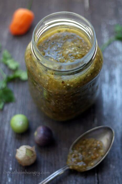 low carb spicy salsa verde from ibreatheimhungry.com