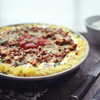 low carb chili spagetti squash casserole from ibreatheimhungry.com