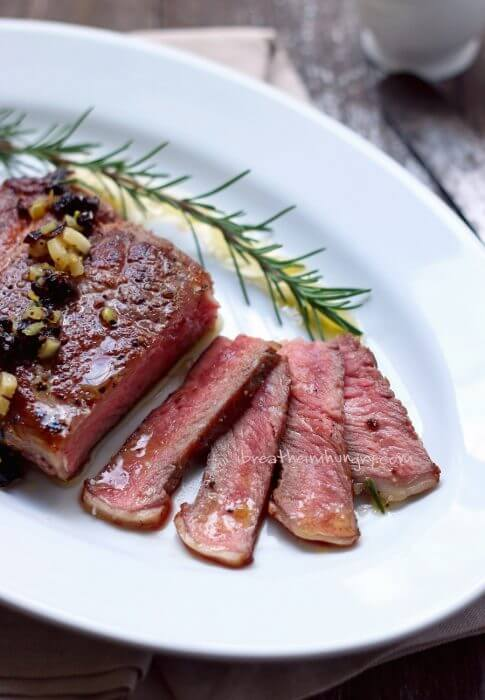 Grass Fed Ribeye Steak Recipe from I Breathe I'm Hungry