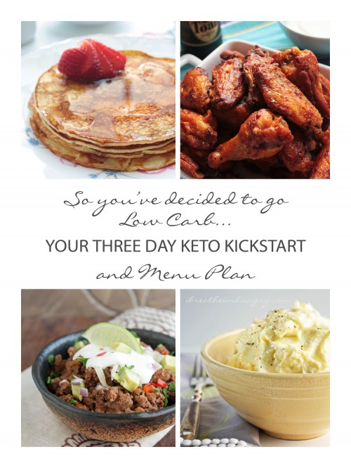 keto menu plan from I Breathe I'm Hungry