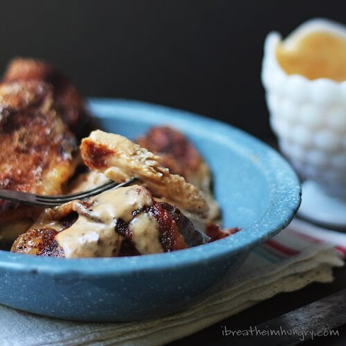 keto friendly chicken recipe from Mellissa Sevigny at I Breathe I'm Hungry