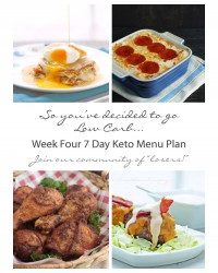 Week Four 7 Day Keto (Low Carb) Menu Plan
