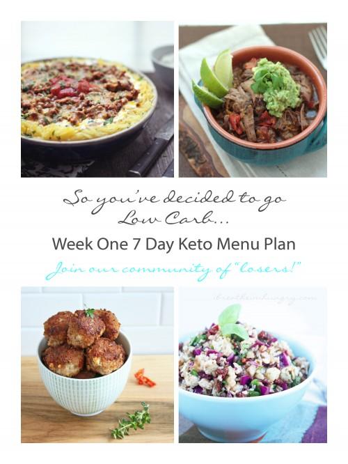 7 Day Menu Plan for Keto or Atkins by Mellissa Sevigny