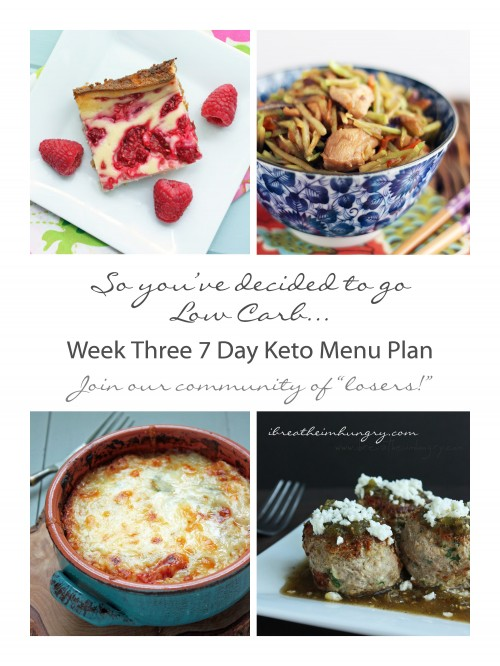 week long keto diet menu plan and shopping list