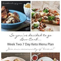 7 day low carb menu plan with recipes