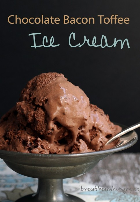 Low Carb Chocolate Bacon Toffee Ice Cream I Breathe I'm Hungry