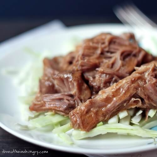 low carb recipe for pulled pork from I Breathe I'm Hungry
