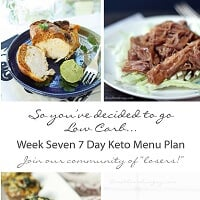 weekly keto menu plan from I Breathe I'm Hungry