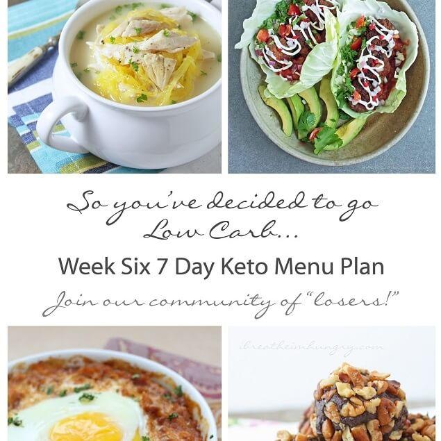7 day low carb menu plan