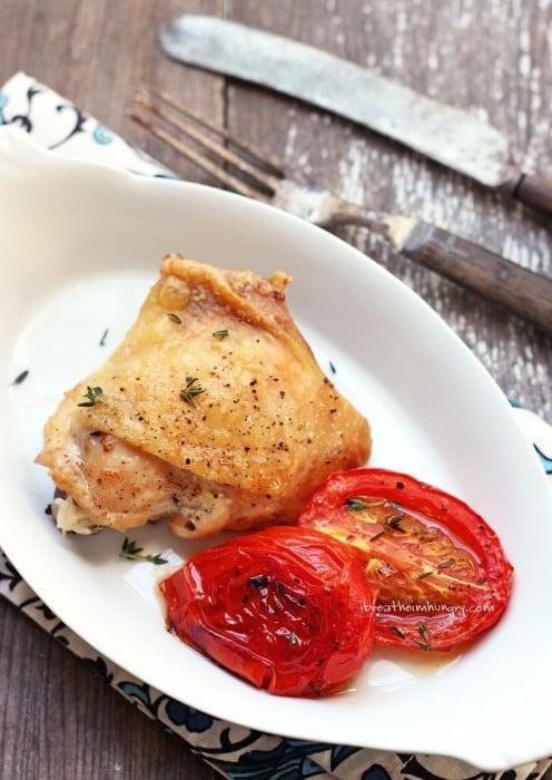 Keto Roasted Chicken Sheet Pan Dinner