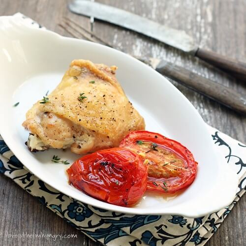 Easy Roasted Chicken and Tomatoes – Low Carb and Gluten Free