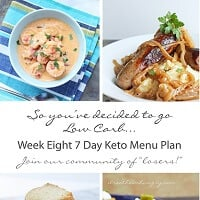 Week Eight 7 Day Keto (Low Carb) Menu Plan