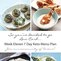Week Eleven 7 Day Keto Menu Plan