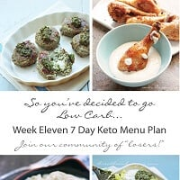 weekly low carb menu plan from I Breathe Im Hungry