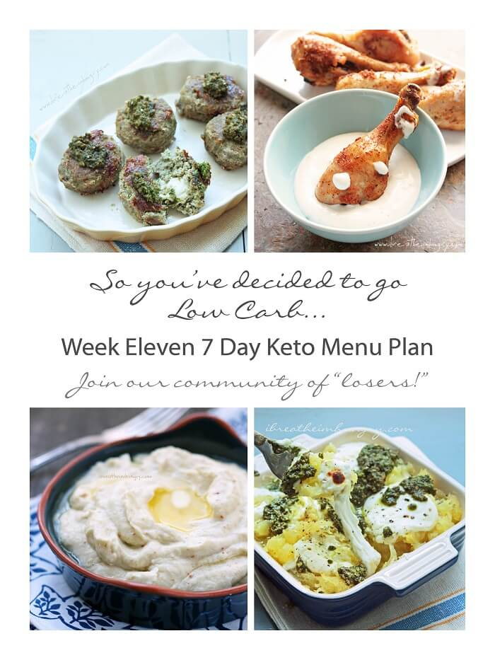 Week Eleven 7 Day Keto Menu Plan | I Breathe I'm Hungry