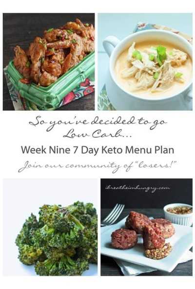 7 day low carb menu plan from I breathe Im hungry