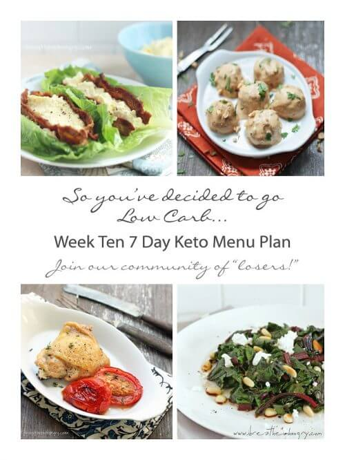 Low carb menu plan from mellissa sevigny of I Breathe I'm Hungry